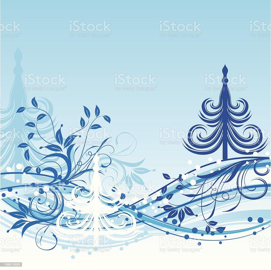 Christmas tree background royalty-free stock vector art