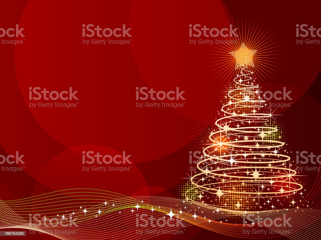 Christmas Tree Background vector art illustration