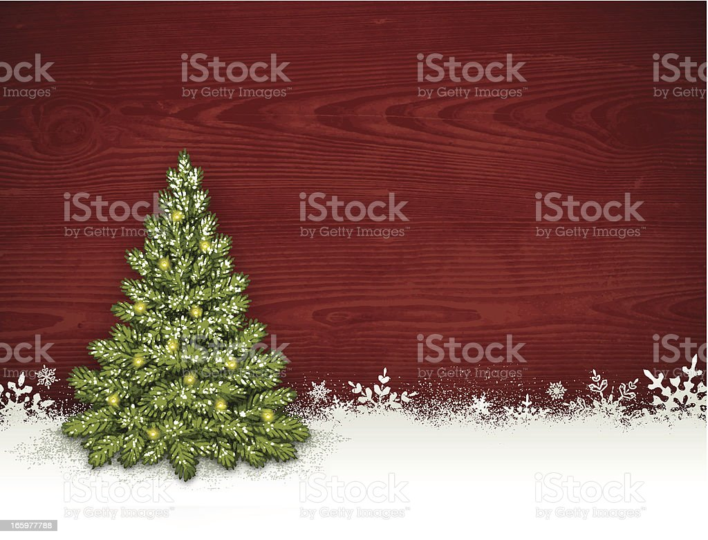Christmas Tree Background royalty-free stock vector art