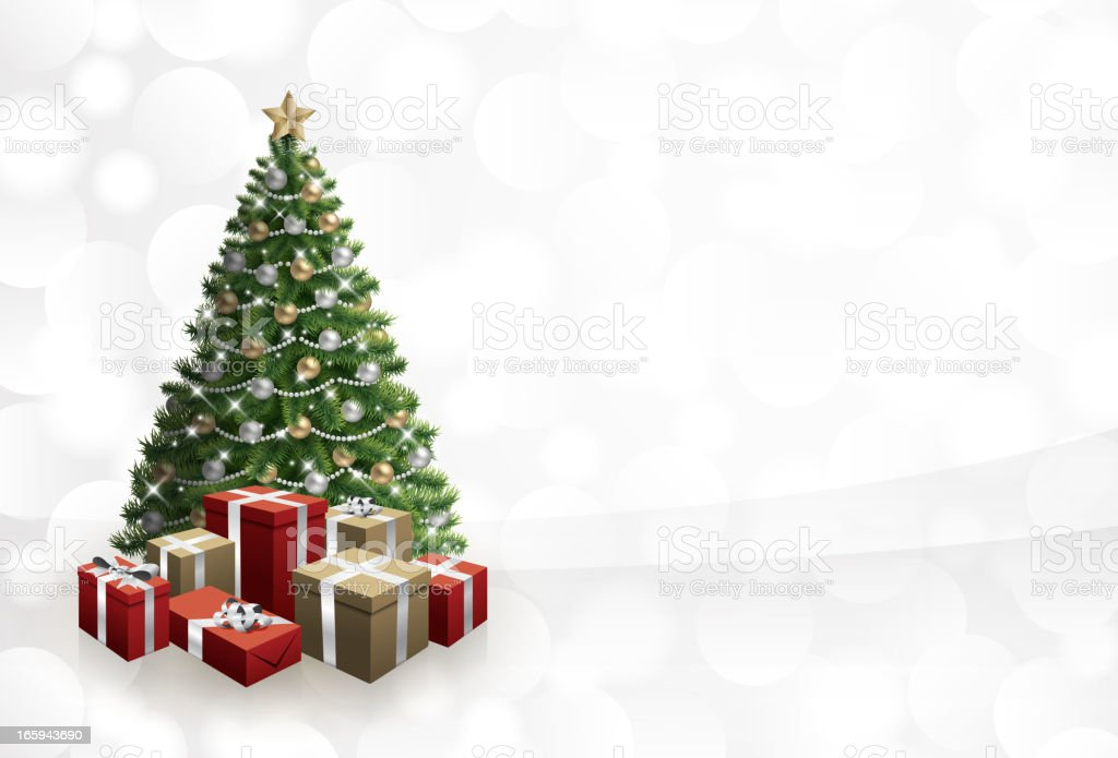 Christmas tree background vector vector art illustration