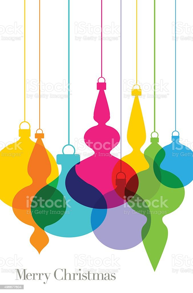 Christmas tree baubles Greeting vector art illustration
