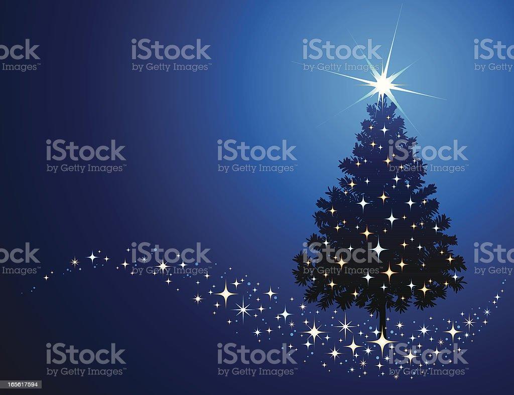 Christmas Tree Blue royalty-free stock vector art