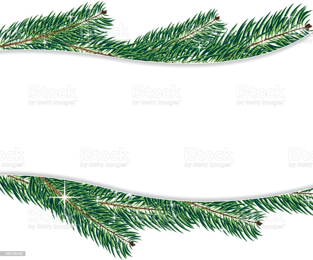 Christmas Tree branches royalty-free stock vector art