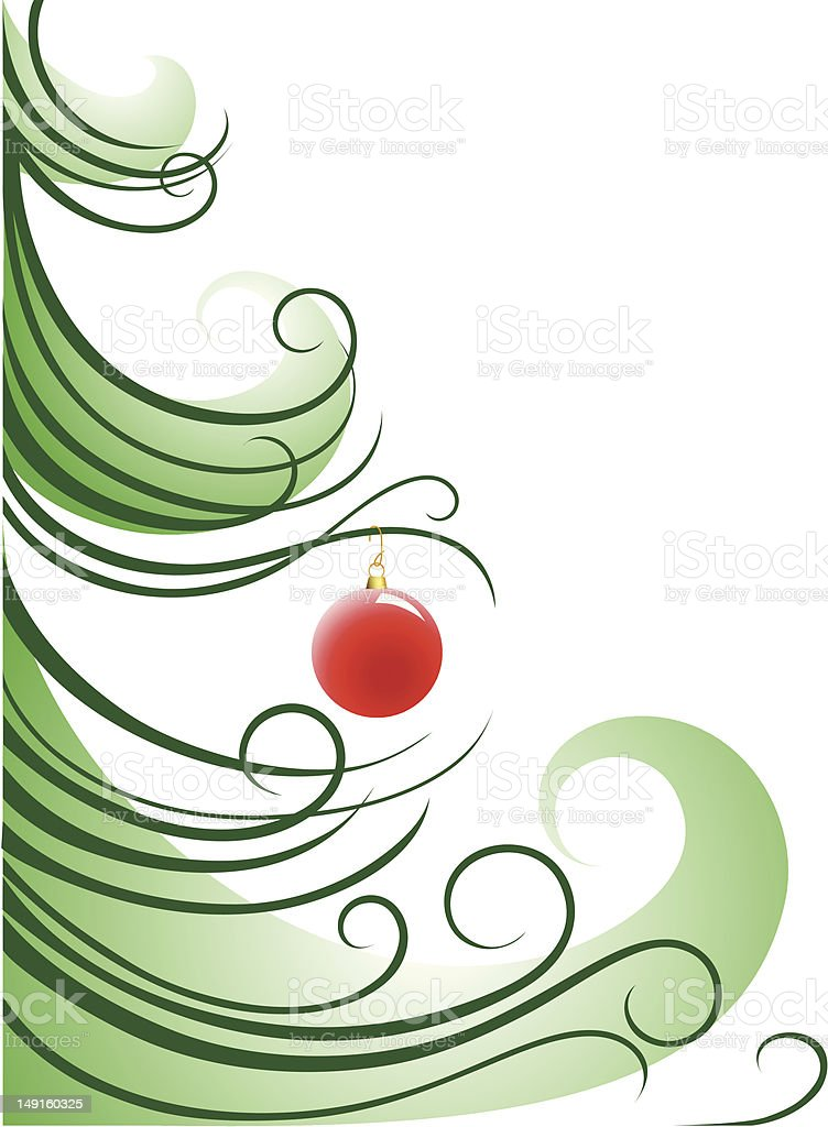 Christmas Tree CloseUp royalty-free stock vector art