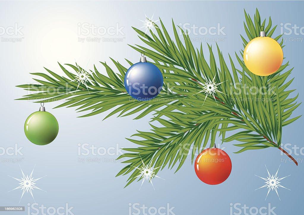 Christmas tree decoration royalty-free stock vector art