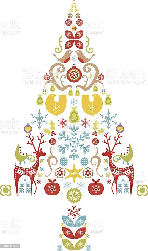 Christmas Tree Design royalty-free stock vector art