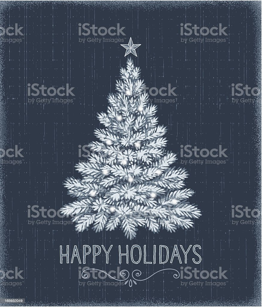 Christmas Tree Drawing royalty-free stock vector art