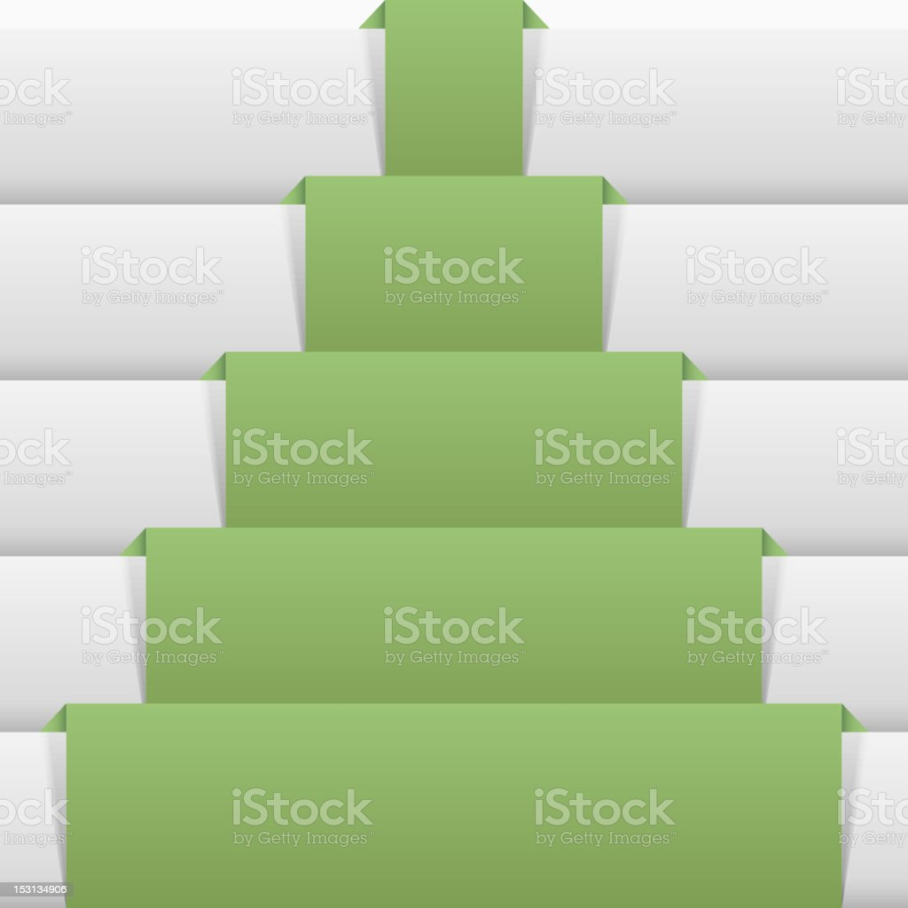 Christmas tree from a paper royalty-free stock vector art