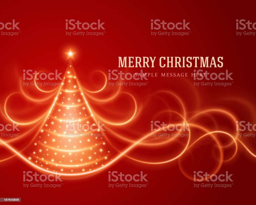 Christmas tree from light lines background royalty-free stock vector art