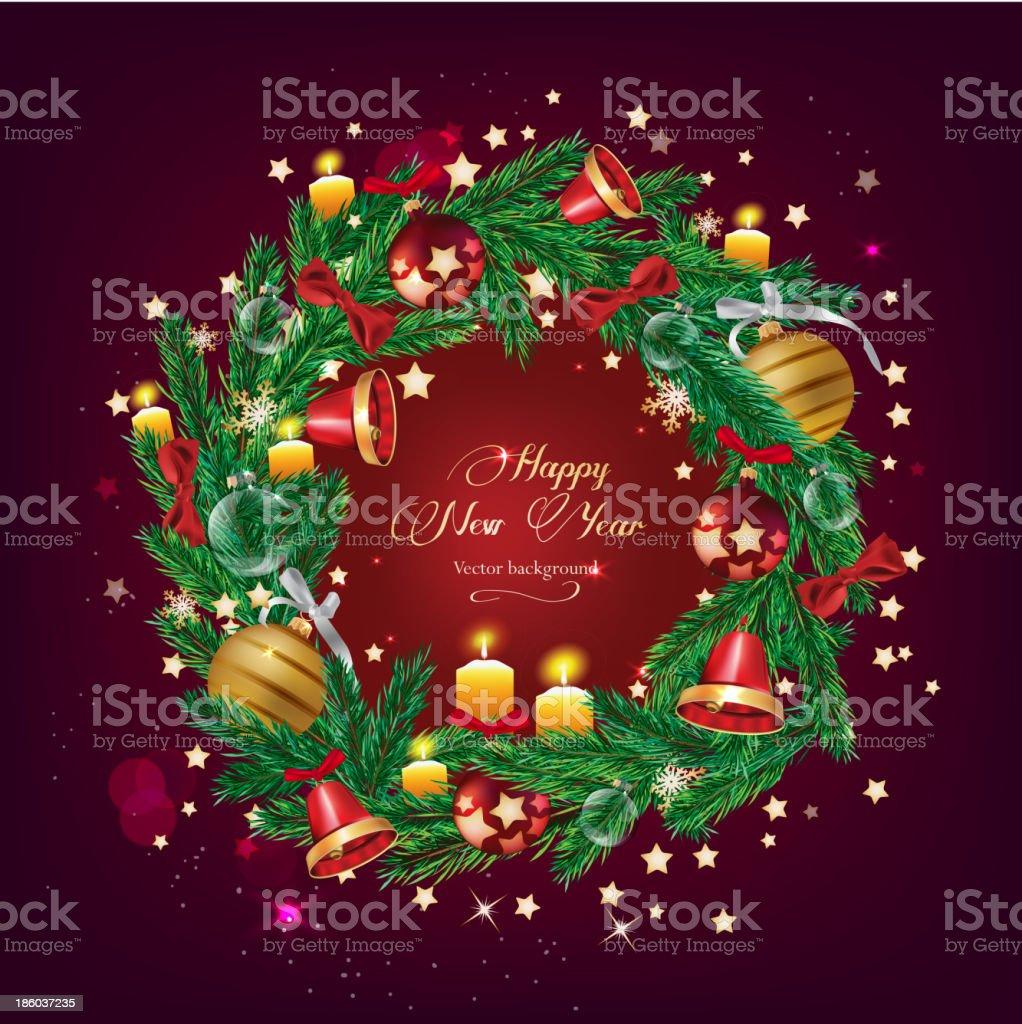 Christmas tree garland royalty-free stock vector art