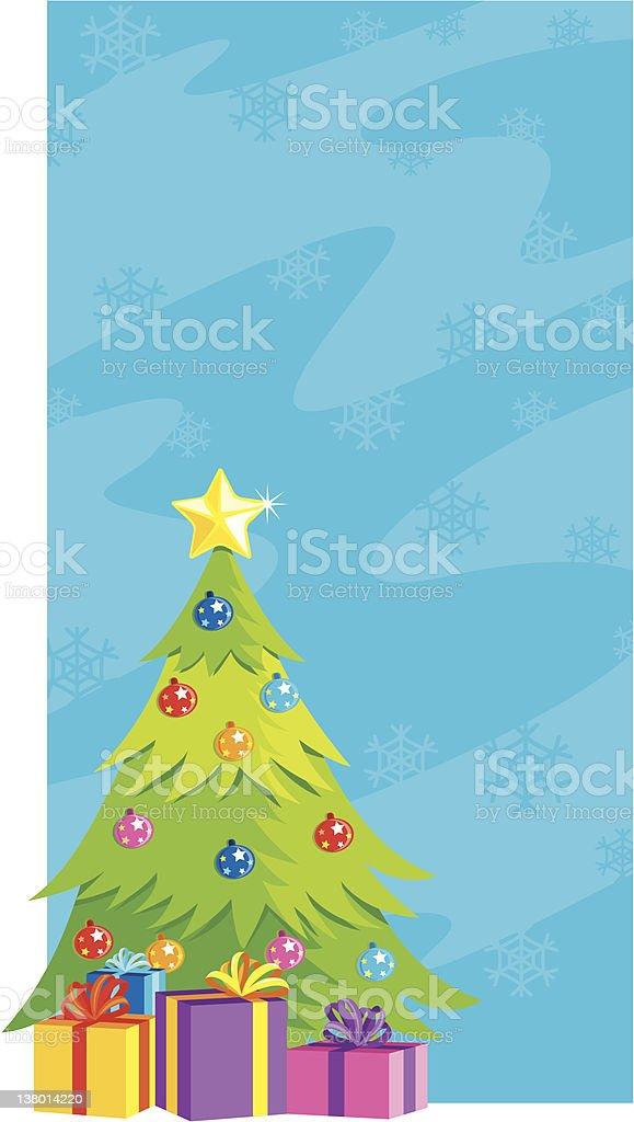 Christmas Tree & Gift Boxes stock photo
