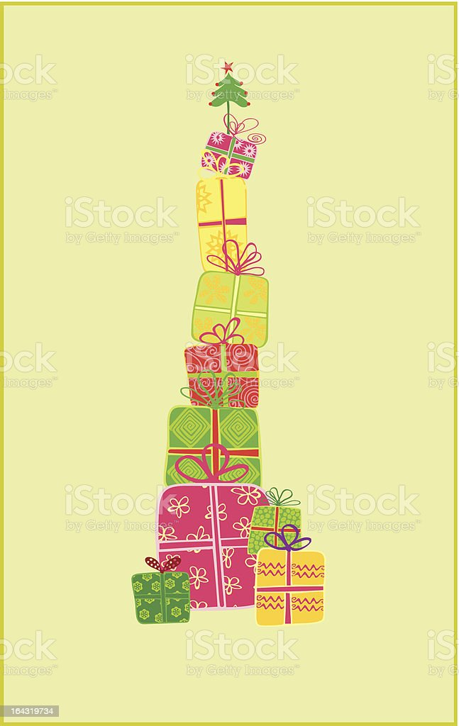 Christmas Tree gifts royalty-free stock vector art
