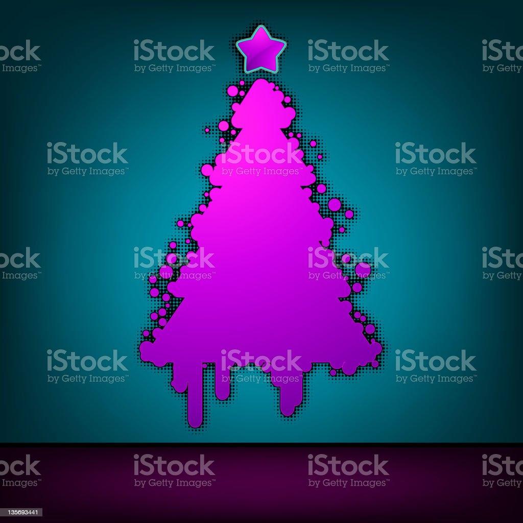 Christmas tree green card. EPS 8 royalty-free stock vector art