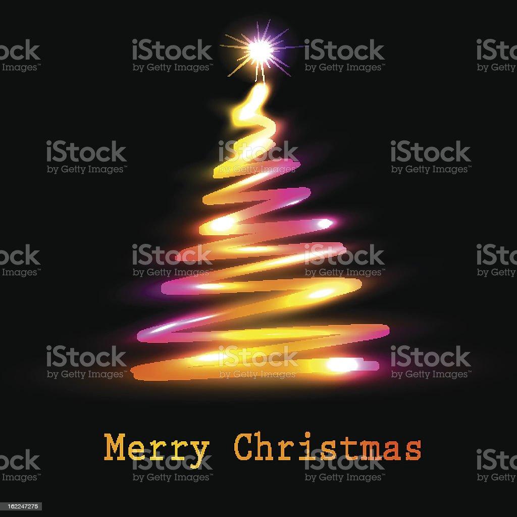 Christmas tree greeting card royalty-free stock vector art