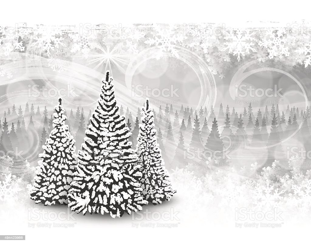 Christmas Tree Holiday Background vector art illustration