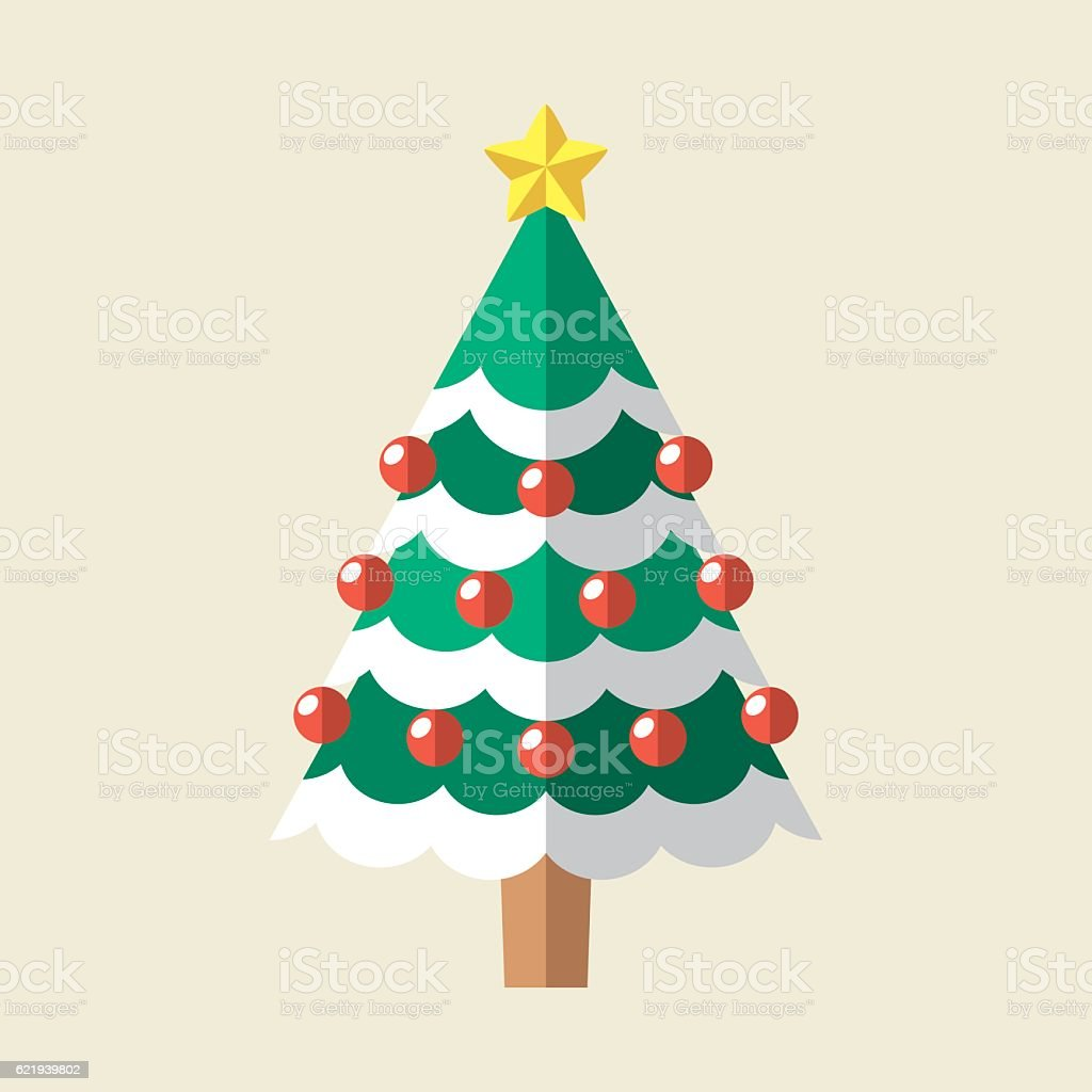 Christmas Tree Icon vector art illustration