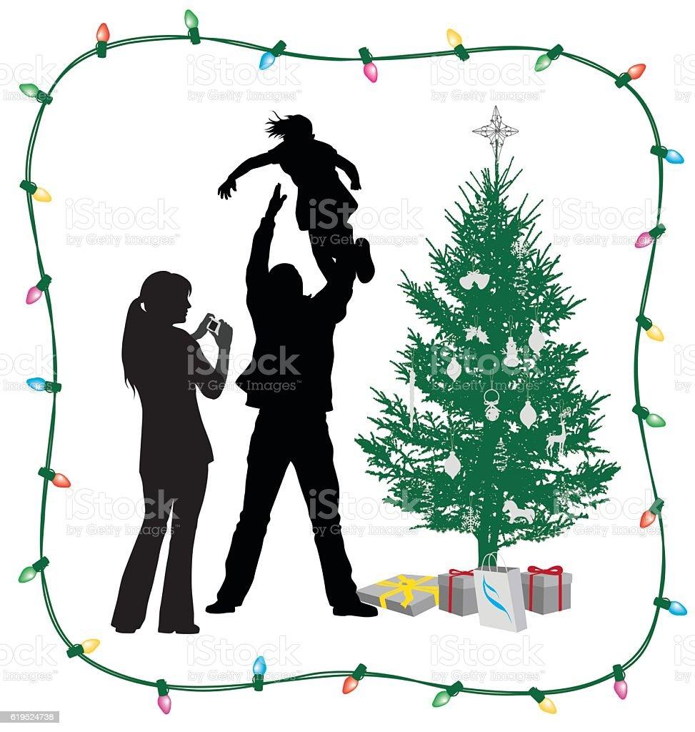 Christmas Tree Joy vector art illustration