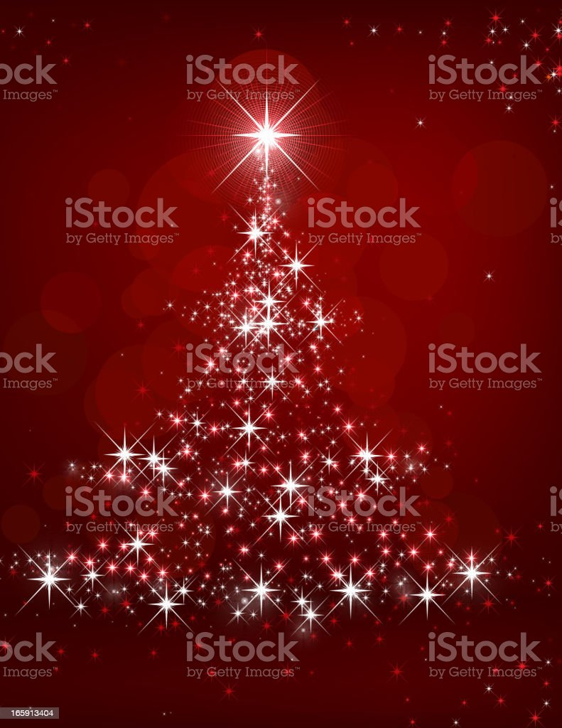 Christmas tree lights on red background royalty-free stock vector art