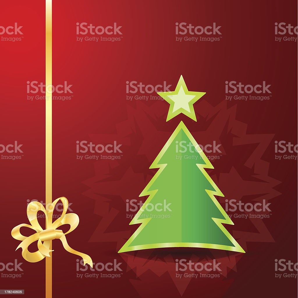 Christmas tree on the red background royalty-free stock vector art