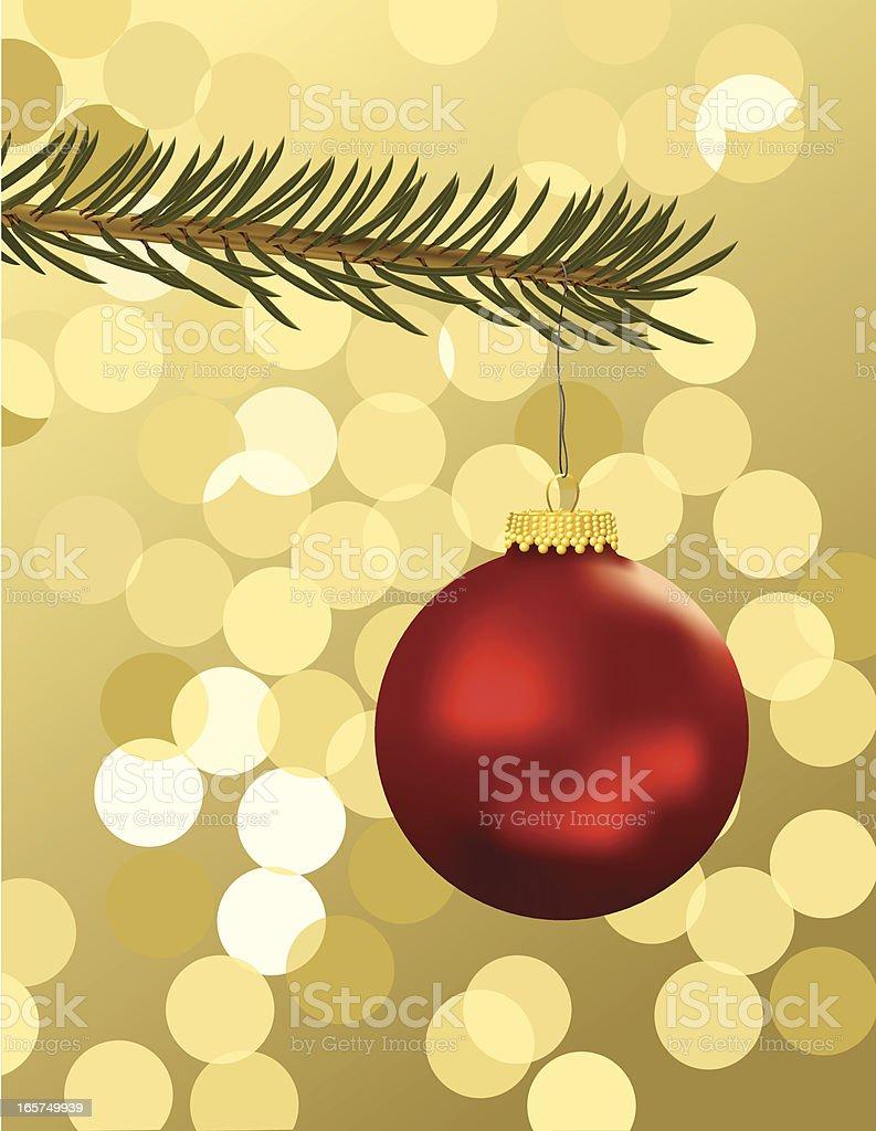 Christmas Tree Ornament royalty-free stock vector art