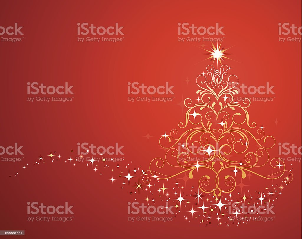 Christmas Tree Ornate royalty-free stock vector art