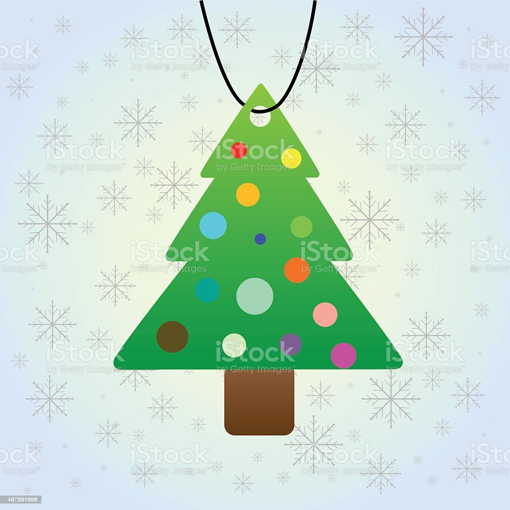 Christmas tree picture for the Christmas card royalty-free stock vector art