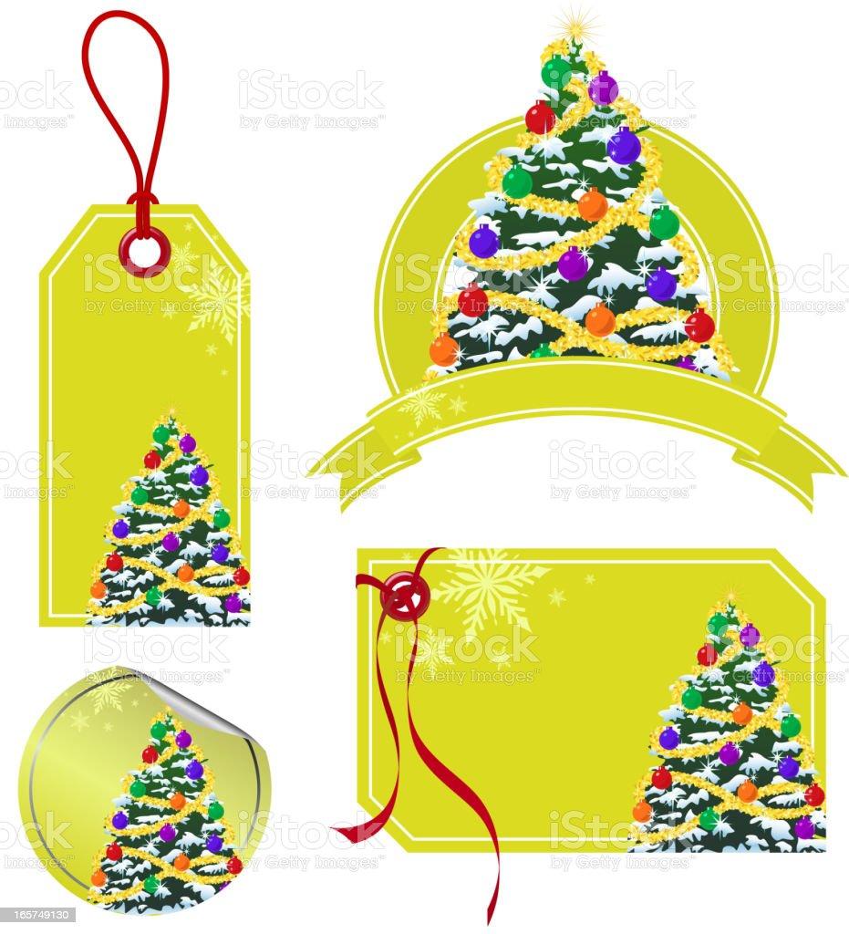 Christmas Tree Price Tag royalty-free stock vector art