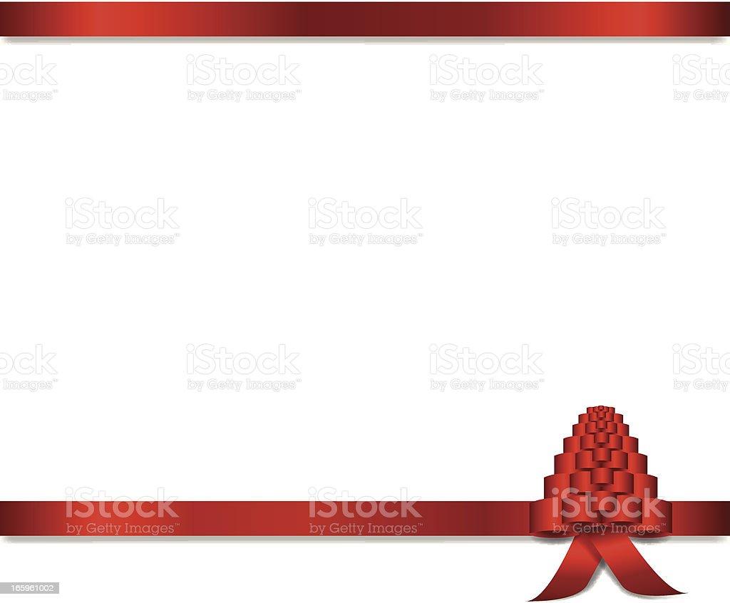 Christmas Tree Ribbon Banner vector art illustration