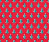Christmas tree Seamless pattern. Vector Illustration. fir tree symbol.