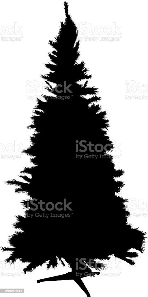 Christmas tree silhouette royalty-free stock vector art