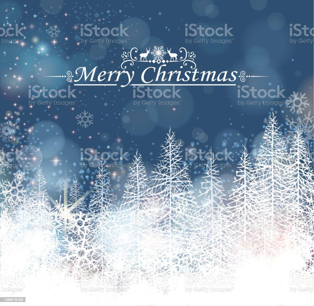 christmas tree silhouette vector art illustration