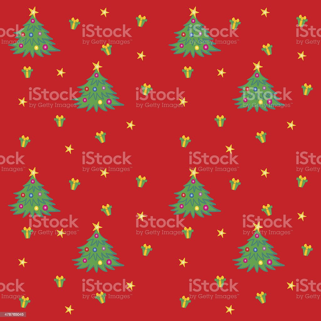Christmas Tree Texture vector art illustration
