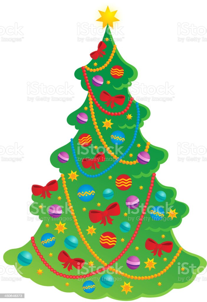 Christmas tree theme 2 royalty-free stock vector art