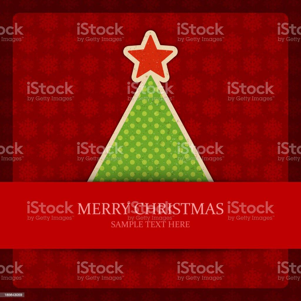 Christmas tree vector background. royalty-free stock vector art