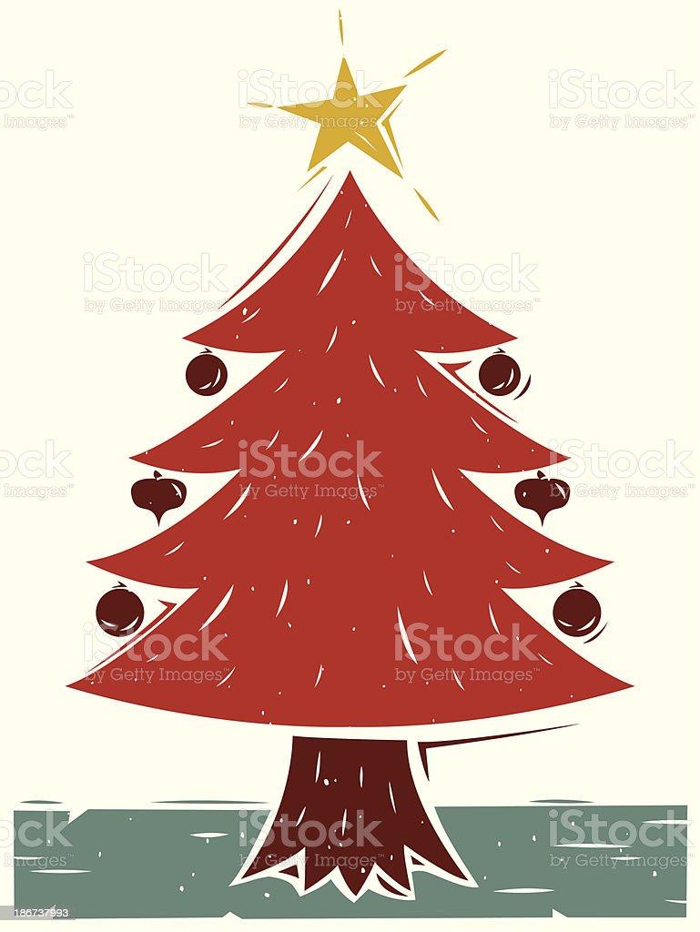 Christmas Tree vector art illustration