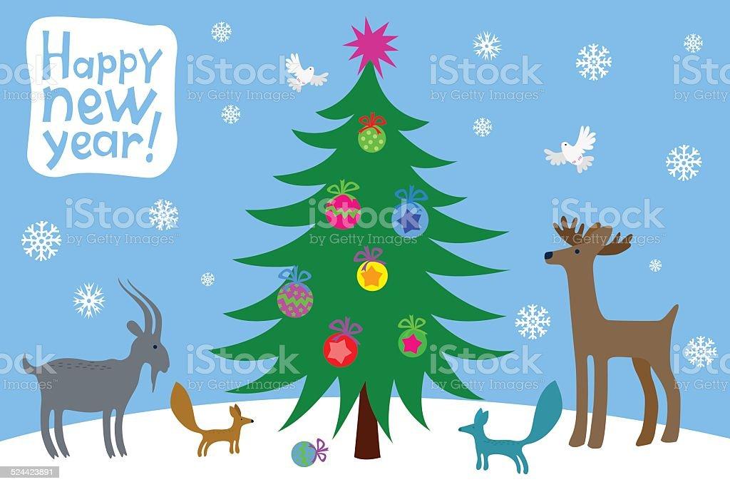 クリスマスクリスマスツリー ロイヤリティフリーのイラスト素材