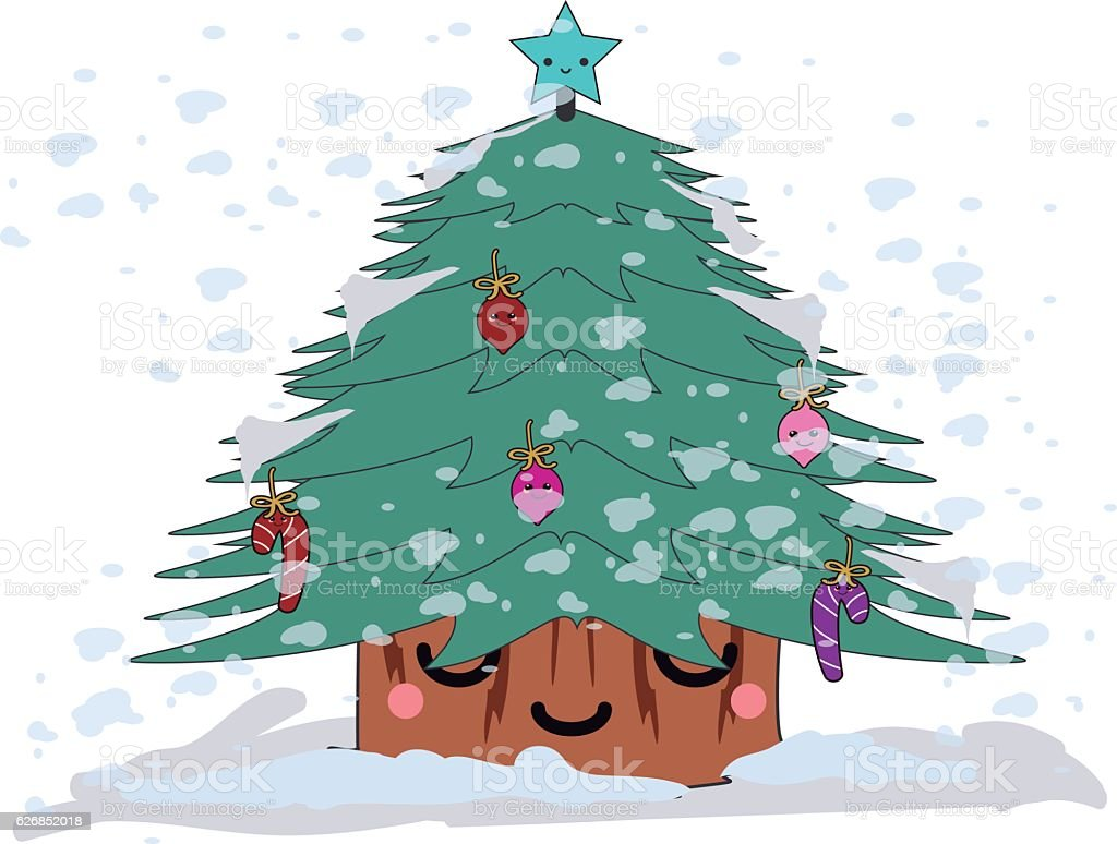 Arbolito de navidad vector art illustration