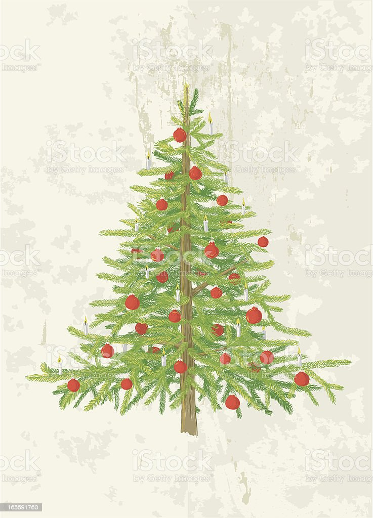 Christmas tree vector illustration royalty-free stock vector art