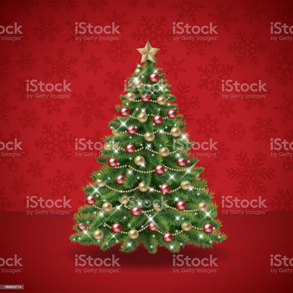 Christmas tree vector royalty-free stock vector art