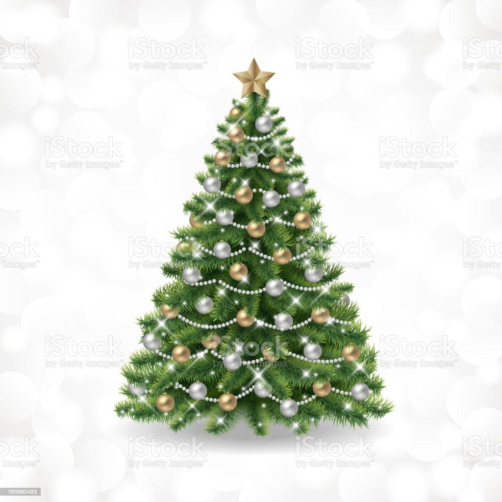 Christmas tree vector vector art illustration