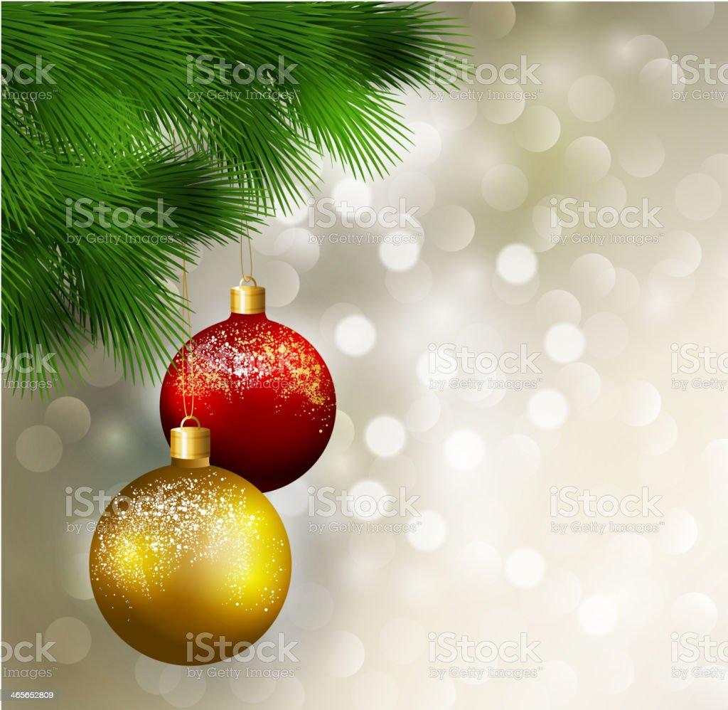 Christmas tree with balls royalty-free stock vector art