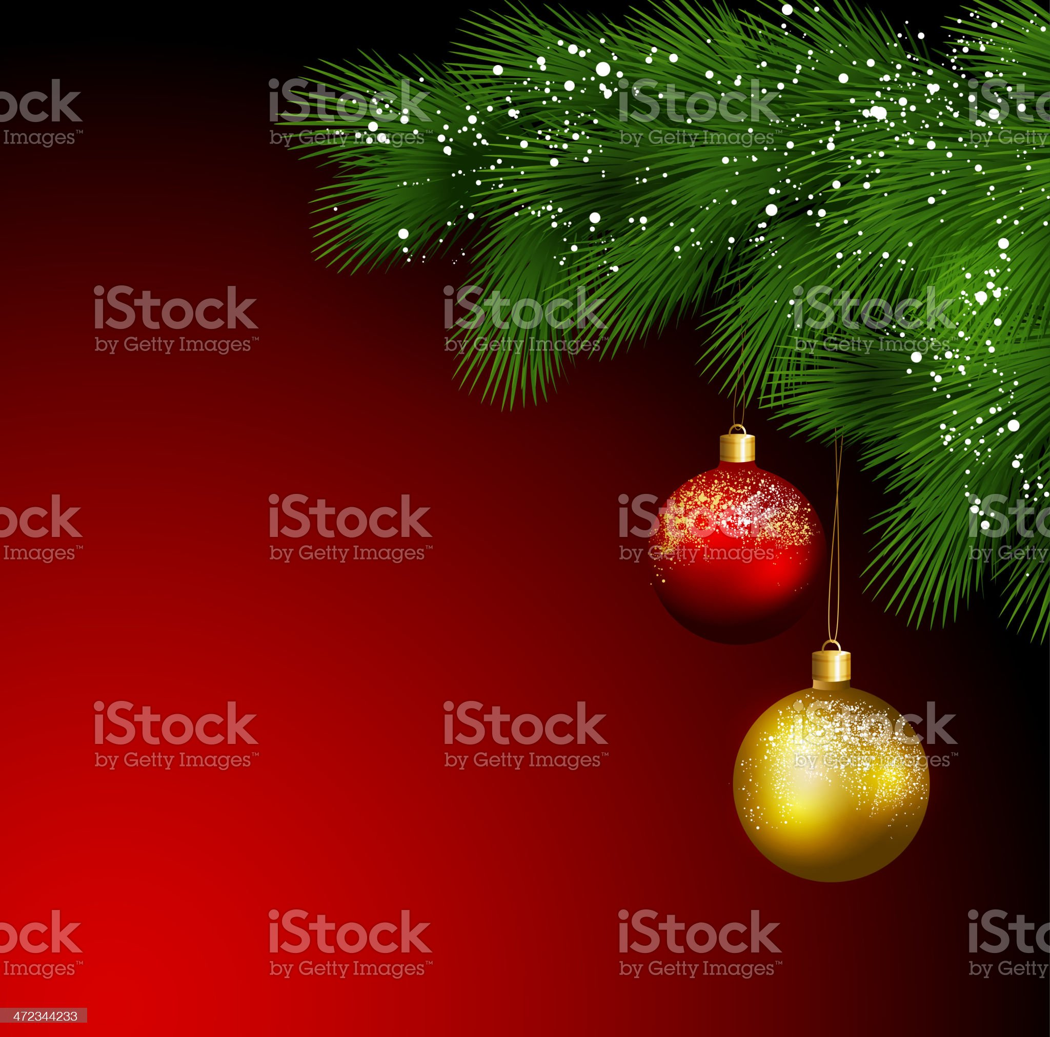 Christmas tree with balls royalty-free stock vector art