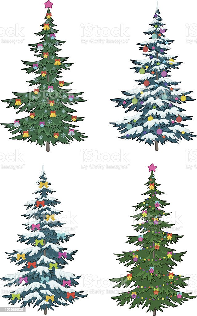 Christmas tree with decoration royalty-free stock vector art