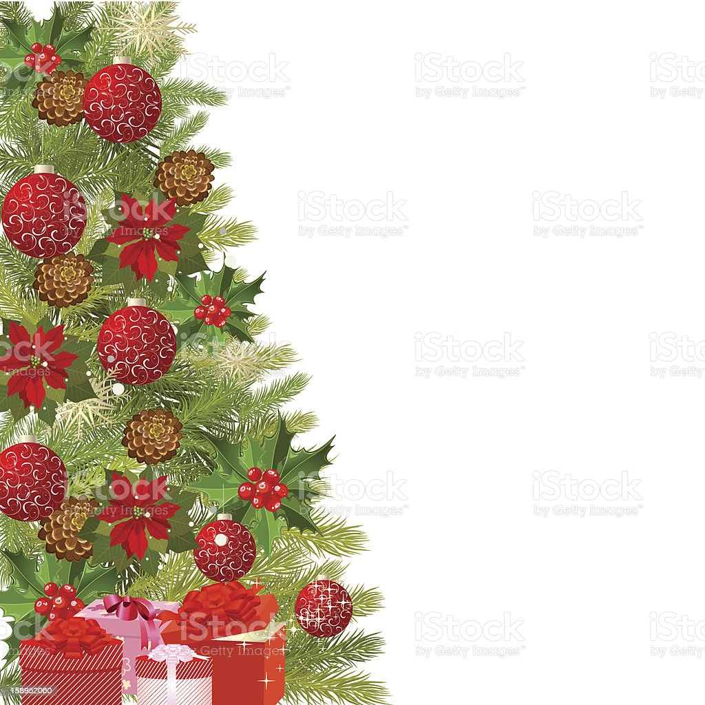 Christmas tree with gifts royalty-free stock vector art