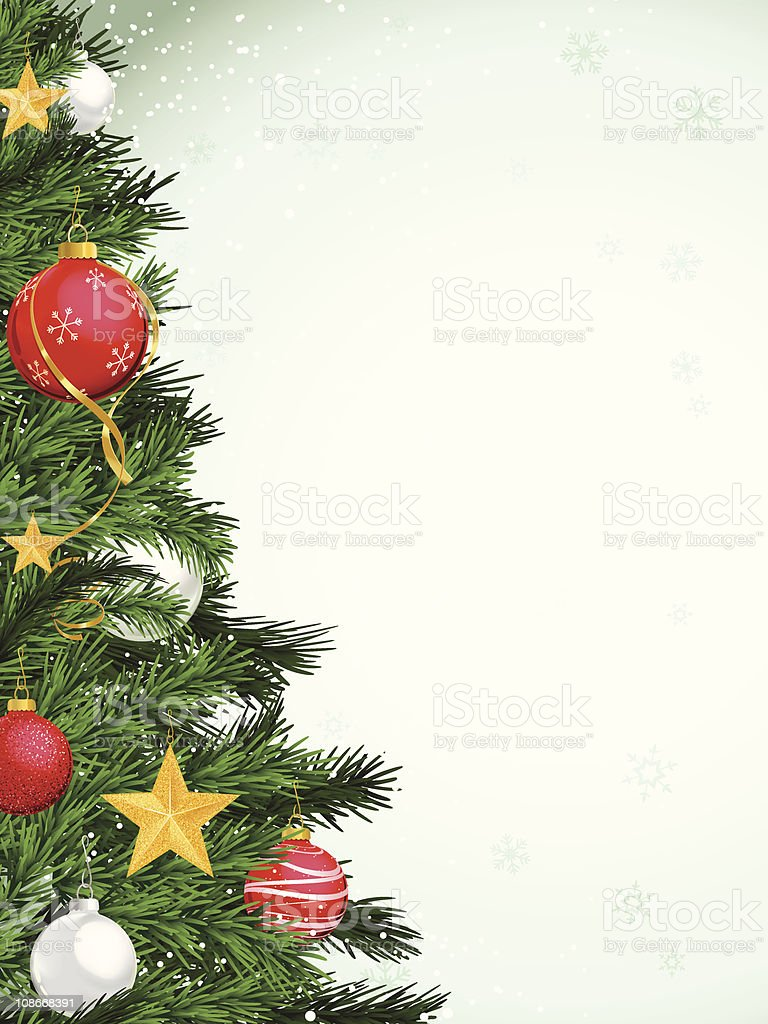 Christmas Tree with Ornaments royalty-free stock vector art