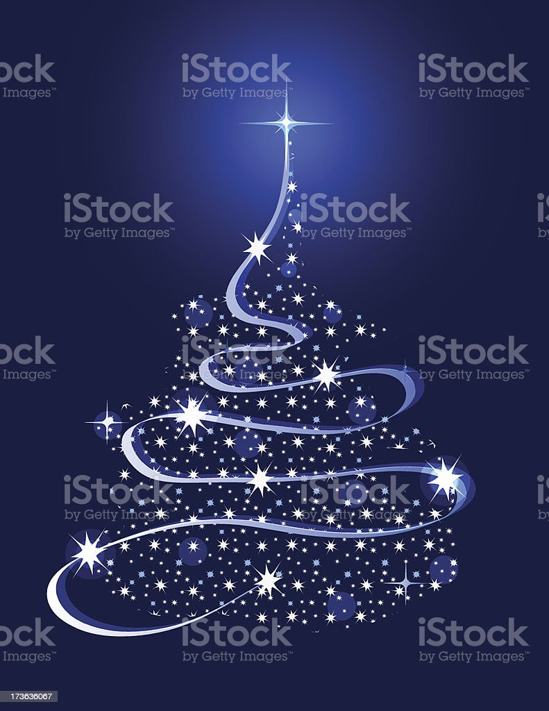 Christmas Tree with Stars royalty-free stock vector art