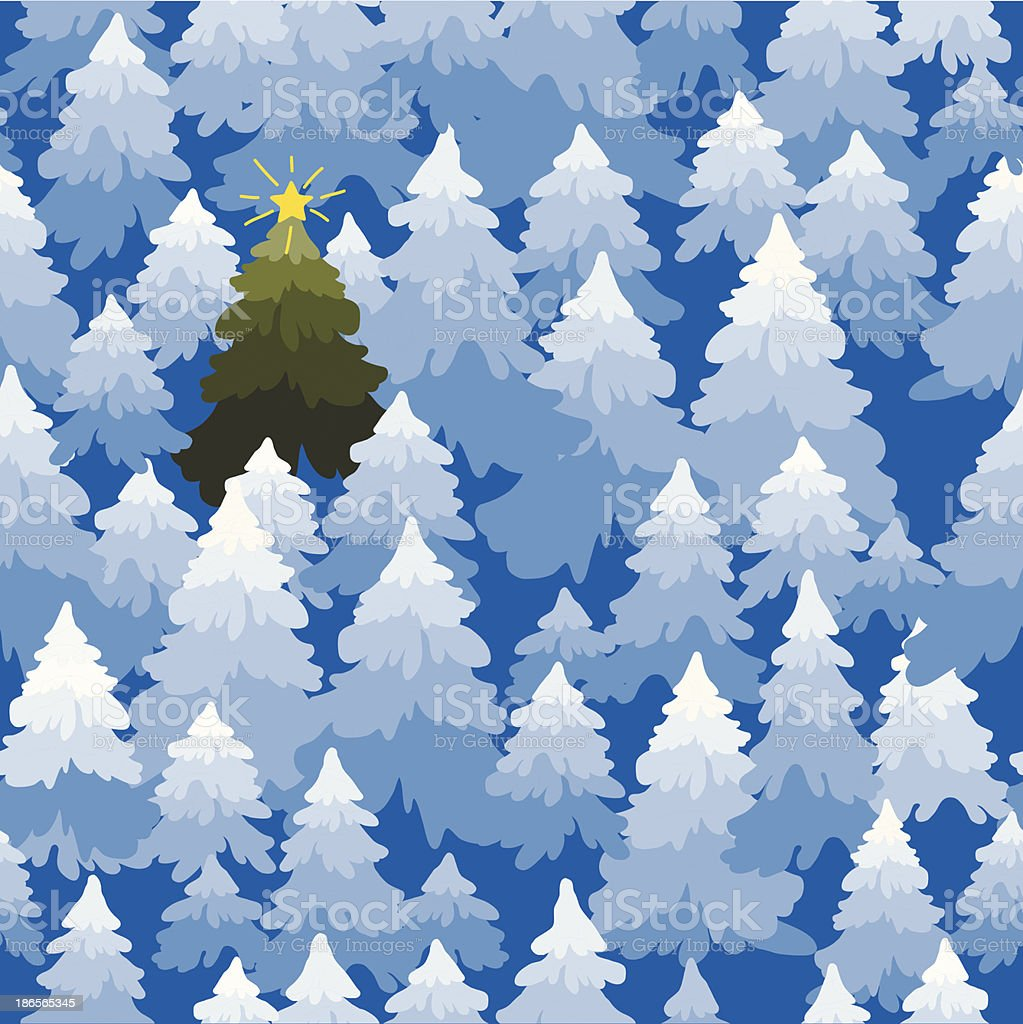 Christmas trees forest pattern. royalty-free stock vector art