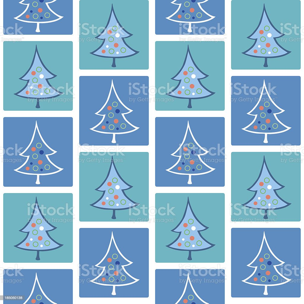 Christmas trees, seamless pattern royalty-free stock vector art