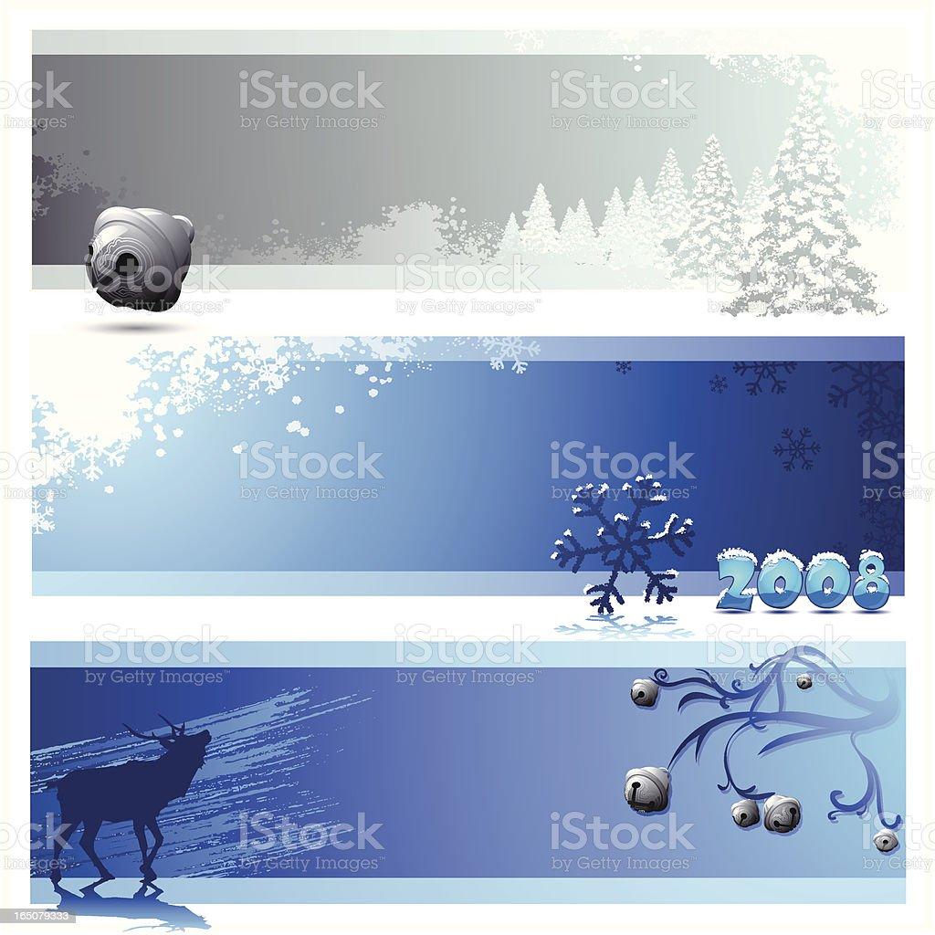 Christmas Tri - Panels royalty-free stock vector art