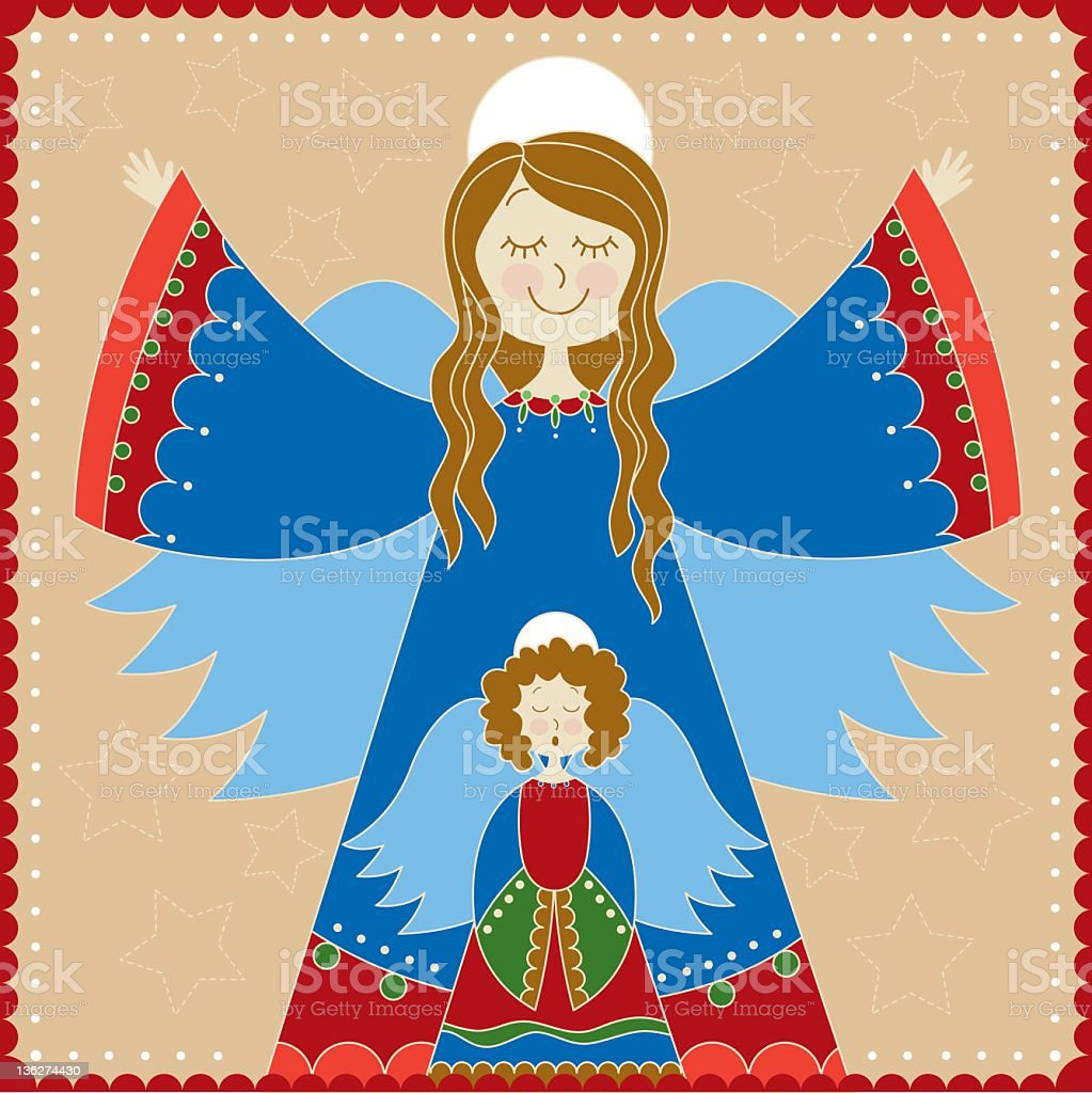 Christmas:  Two angels royalty-free stock photo